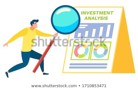 Statistics through Magnifying Glass. Stock photo © tashatuvango