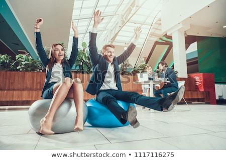 uitvoerende · vergadering · bureau · kantoor · gelukkig - stockfoto © wavebreak_media