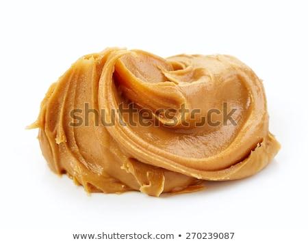 cremoso · manteca · de · cacahuete · alimentos · saludables · peligroso · alimentos · cuchara - foto stock © klsbear