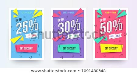 аннотация продажи ваучер баннер дизайн шаблона бизнеса Сток-фото © SArts
