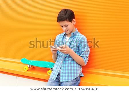 telefone · móvel · crianças · criança · tecnologia · móvel - foto stock © monkey_business