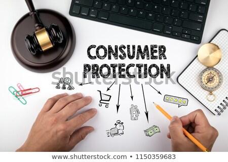 fogyasztó · védelem · grunge · pecsét · szöveg · felirat - stock fotó © olena