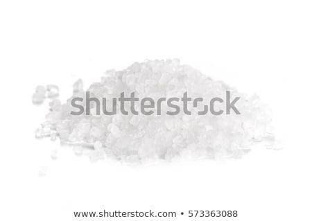 Sal marina tazón metal primer plano Foto stock © Digifoodstock