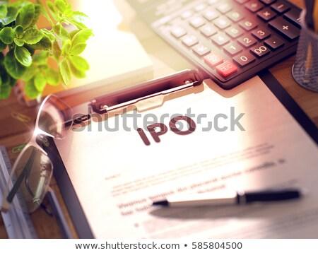 Di trading testo appunti 3D desk Foto d'archivio © tashatuvango