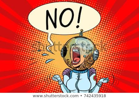 no screaming girl astronaut stock photo © rogistok