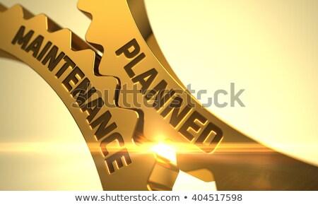 Onderhoud gouden cog versnellingen mechanisme Stockfoto © tashatuvango