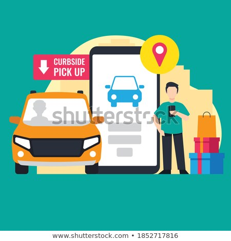 vehicle insurance   cartoon yellow text business concept stock photo © tashatuvango