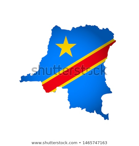 Democratic republica Congo glob hartă roşu Imagine de stoc © Harlekino