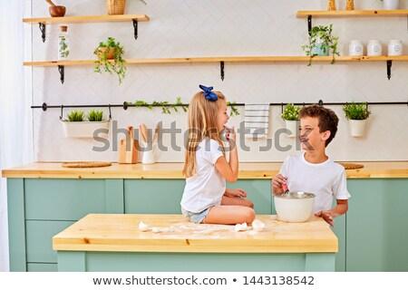 mezclador · máquina · alimentos · cocina · blanco - foto stock © is2