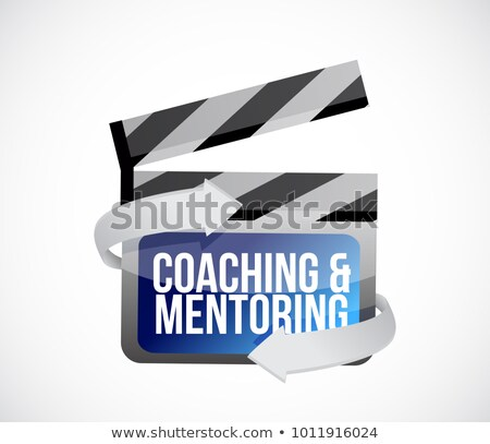 Coaching Mentoring Clip Zeichen Illustration Design Stock foto © alexmillos