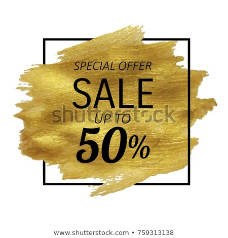 Sale Golden Blot Stock photo © adamson