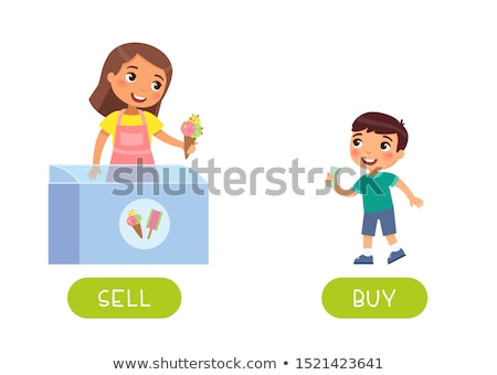 Opposite words for male and female Stock photo © bluering