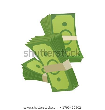 dollar · icône · papier · style · isolé · orange - photo stock © studioworkstock