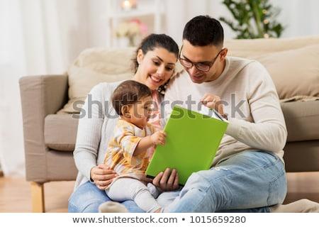 orta · doğu · aile · okuma · kitap · birlikte · kadın - stok fotoğraf © monkey_business