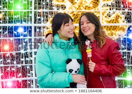 Zabawy uczciwej miś portret kobiet Zdjęcia stock © IS2
