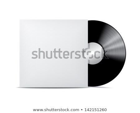 Black vintage vinyl record with blank cover case isolated on white background Stock photo © sidmay
