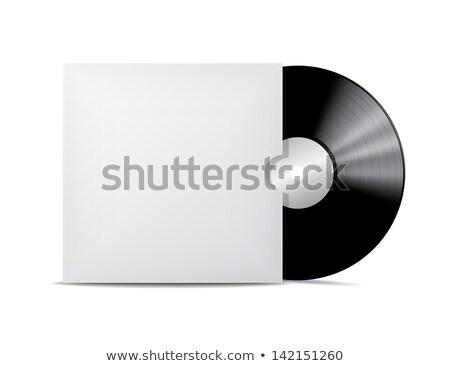 Noir vintage vinyle record couvrir cas Photo stock © sidmay