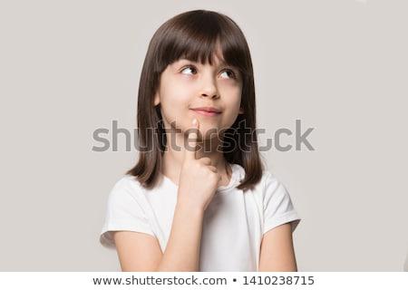 Fille rêvasser Homme brunette enfance une personne Photo stock © IS2