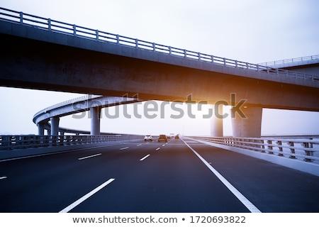 Modern concrete bridge Stock photo © pedrosala