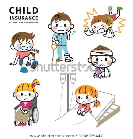 gyerekek · baleset · illusztráció · gyermek · diák · háttér - stock fotó © bluering
