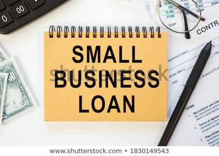 Orçamento pequeno quadro-negro vermelho negócio Foto stock © tashatuvango