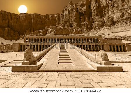 tempel · Egypte · zonnige · landschap · reizen · steen - stockfoto © simply