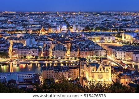 Famoso ver Lyon noite França cidade Foto stock © vwalakte