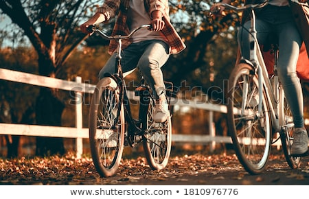 siluet · bisikletçi · bisiklet · kaya · gün · batımı · aşırı - stok fotoğraf © ssuaphoto
