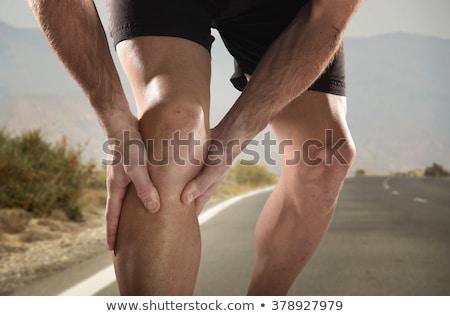 膝 · 痛み · ランナー · けが · 関節 · 男 - ストックフォト © deandrobot