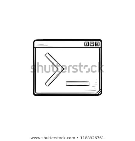 Navegador ventana comando línea dibujado a mano Foto stock © RAStudio