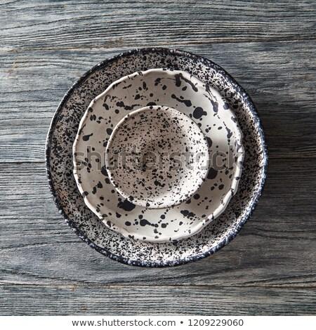 kézzel · készített · fából · készült · konyha · edények · izolált · fehér - stock fotó © artjazz