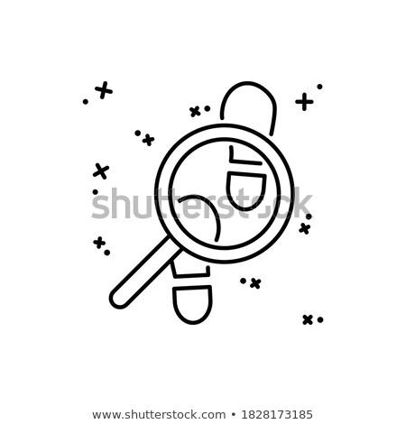 Nagyító néz egyenlőség izolált webes ikon terv Stock fotó © Imaagio
