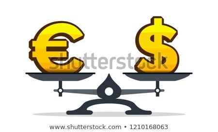 ユーロ にログイン 太り過ぎ ドル記号 スケール ベクトル ストックフォト © pikepicture