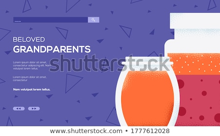 Canned Strawberries Raspberry Vector Illustration Stock photo © robuart