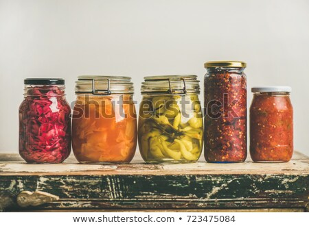 fermented vegetables background stock photo © unikpix