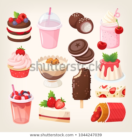 vector set of fruit jelly stock photo © freesoulproduction
