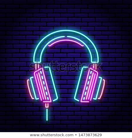 Headphones Neon Sign Stock photo © Anna_leni