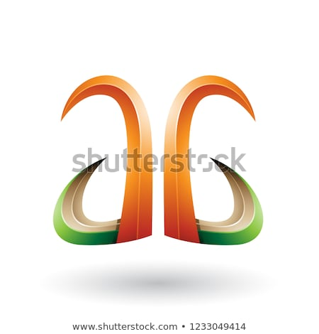オレンジ 緑 3D ホーン のような 文字g ストックフォト © cidepix