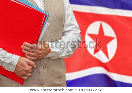 Folder with flag of north korea Stock photo © MikhailMishchenko