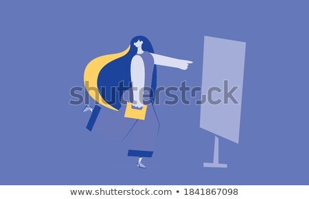 businessman and lady on abstract presentation stock photo © robuart