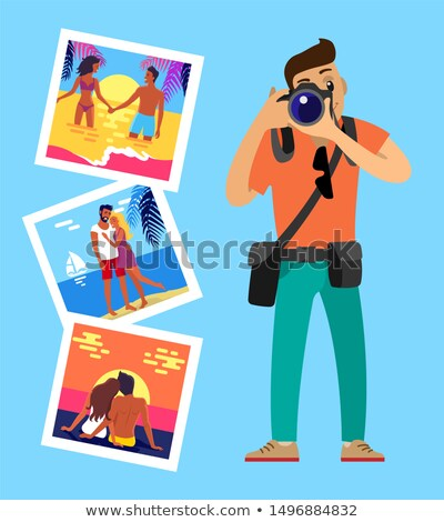 cameraman and his works pictures of merry couples stock photo © robuart
