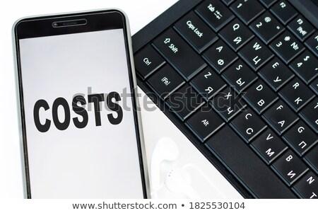 ストックフォト: ノートパソコンのキーボード · ボタン · 言葉 · 予算 · 青