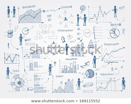 ストックフォト: ビジネス · アイデア · プロセス · セット · ベクトル · ビジネスマン
