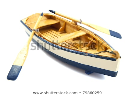 single white boat on the river Stock photo © ruslanshramko