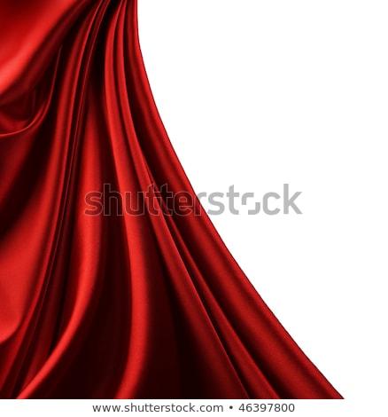 piros · függönyök · színpad · fehér · színház · szín - stock fotó © lightsource