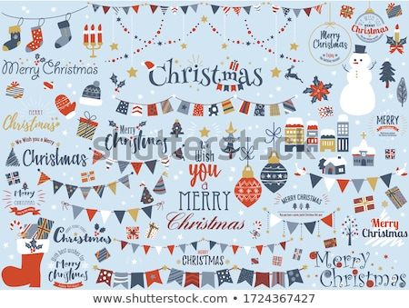 Merry Christmas Winter Holidays, Joy Wishes, Santa Stock photo © robuart