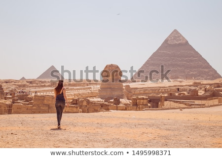 Kefren Pyramid on Giza, Cairo Stock photo © simply
