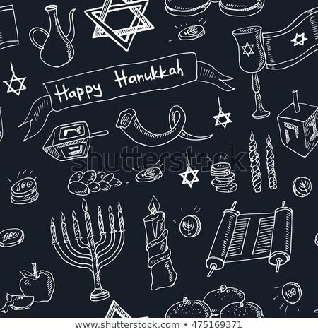 Israel · festival · ilustração · rolar · mensagem · papel - foto stock © netkov1