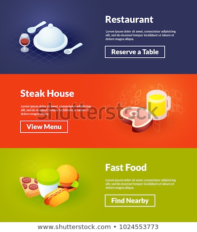 Cooking color isometric concept icons Stock photo © netkov1