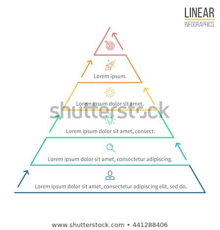 Stockfoto: Abstract · lijn · piramide · infographics · lineair · diagram